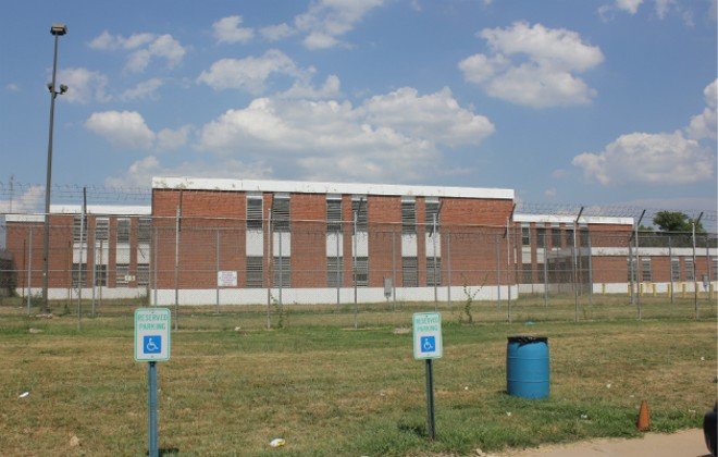 The St. Louis workhouse jail will be getting temporary air conditioners next week, the mayor says. - PHOTO BY DOYLE MURPHY