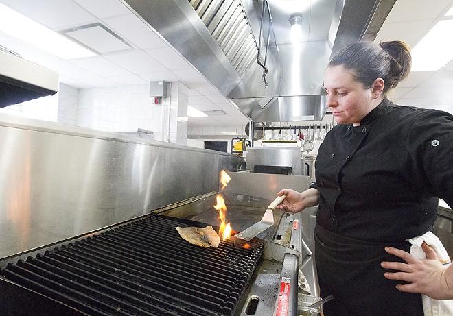 Chef Senada Grbic in the kitchen. - PHOTO BY MABEL SUEN