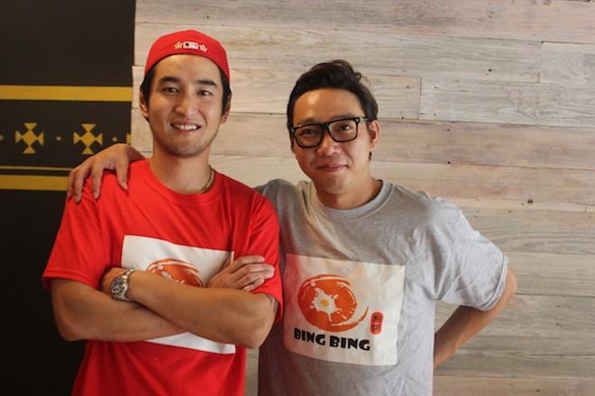 Chef Yijun Chen, left, and business partner Yong Liu. - PHOTO BY SARAH FENSKE