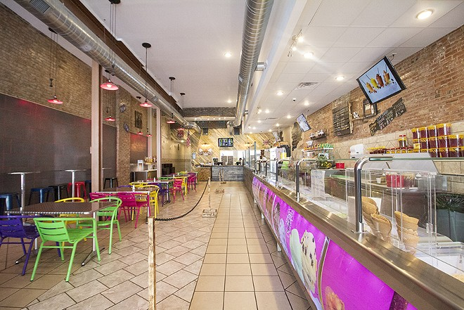 The massive, Technicolor restaurant makes Willy Wonka's chocolate factory look subdued. - PHOTO BY MABEL SUEN