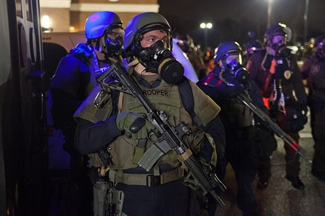 Troopers on the streets of Ferguson. - ​COURTESY OF MAGNOLIA PICTURES