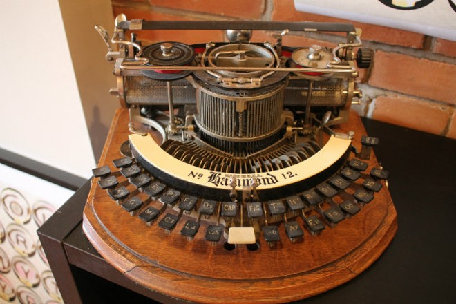 Marler's family has been collecting typewriters since the post-World War I era. - PHOTO BY SABRINA MEDLER