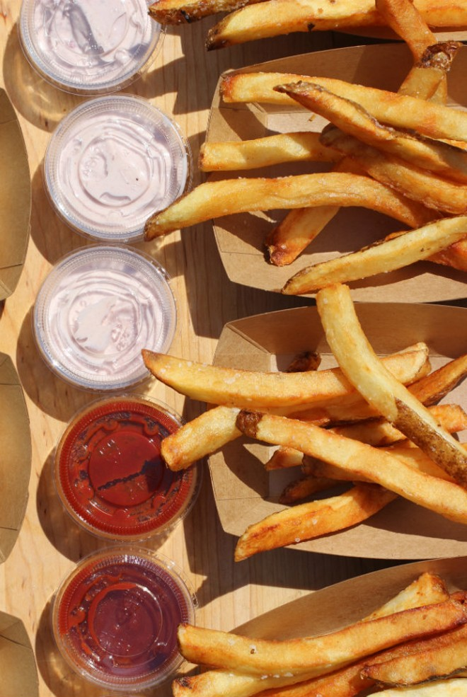 Frankly Sausages' popular handmade fries will also be served at Frankly on Cherokee. - PHOTO COURTESY OF JAMIE CAWTHON.