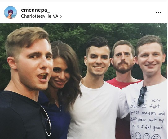 Former Saint Louis University High classmates identified Zach Morley (left) after anti-racists circulated this Instagram post by Ladue's Clark Canepa (center.) - IMAGE VIA INSTAGRAM