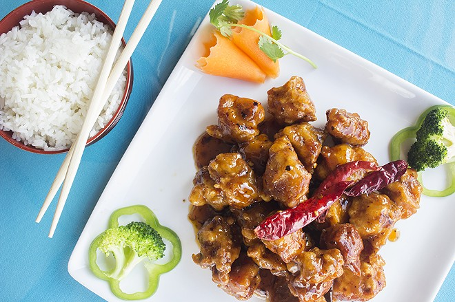 Items like General Tso's chicken are still on the menu for your less adventurous friends. - PHOTO BY MABEL SUEN