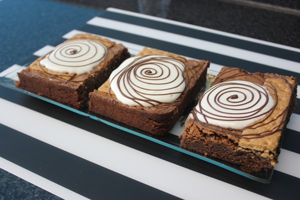S'mores brownies have graham cracker baked right into the crust. - PHOTO BY SARAH FENSKE