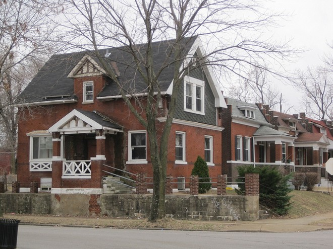 Homes in north St. Louis' O'Fallon neighborhood. - PHOTO COURTESY OF FLICKR/MICHAEL ALLEN
