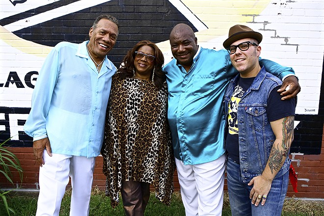From left: Roland Johnson, Renee Smith, Gene Jackson and Mat Wilson. - PHOTO BY NATE BURRELL