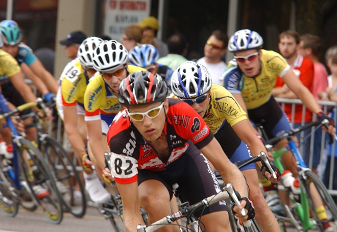 The Gateway Cup features professional cyclists in all four races.