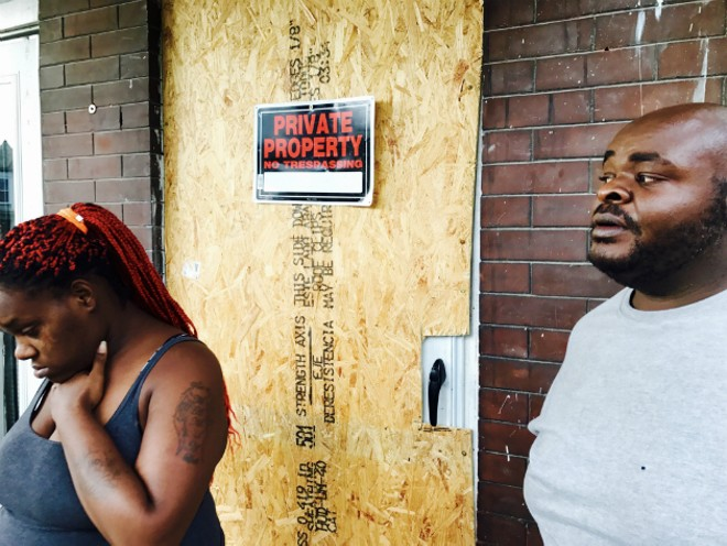 Shontell Davis and Obadiah Lee say their landlord tried to illegally lock them out of their apartment. - IMAGE VIA ARCHCITY DEFENDERS