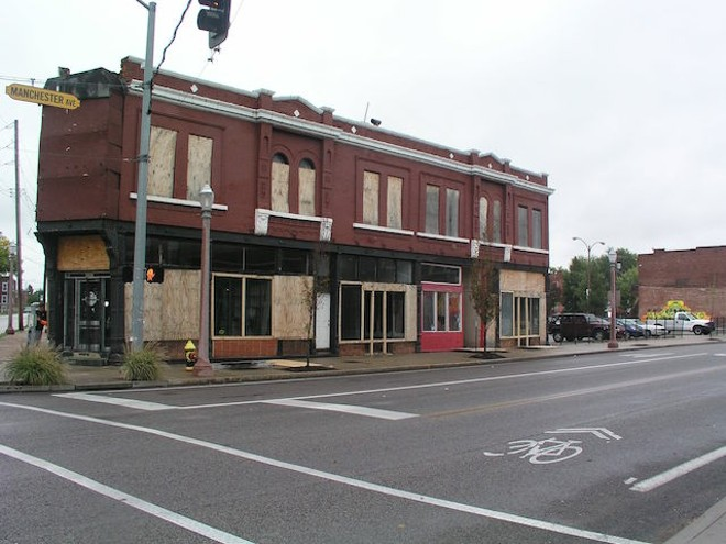 "This ""before"" shot shows the building before its restoration. - COURTESY OF RESTORATION STL"