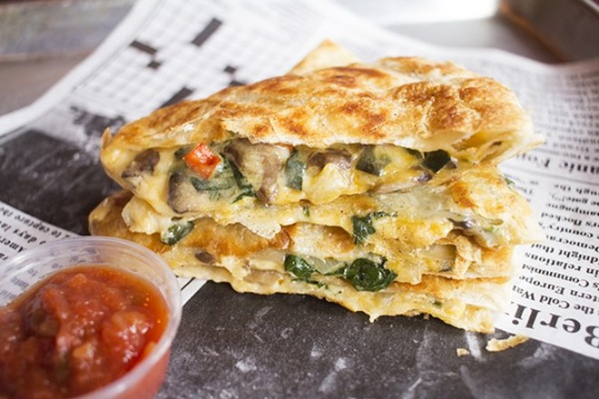 Crave's quesadilla. - PHOTO BY MABEL SUEN