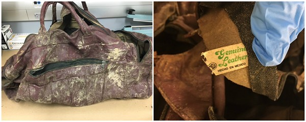St. Louis County investigators are still looking for information about a baby who was left in this bag. - IMAGE VIA ST. LOUIS COUNTY POLICE