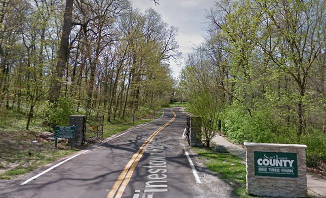 A right foot was discovered in Bee Tree County Park, St. Louis County Police say. - IMAGE VIA GOOGLE MAPS