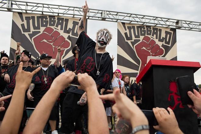 Violent J addresses the crowd. - PHOTO BY DANIEL SHULAR