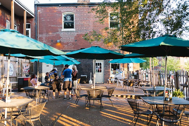 Bently's patio is spacious and inviting. - PHOTO BY SPENCER PERNIKOFF