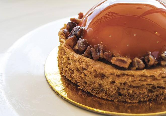 Amber cake at Nathaniel Reid Bakery. - SARA BANNOURA