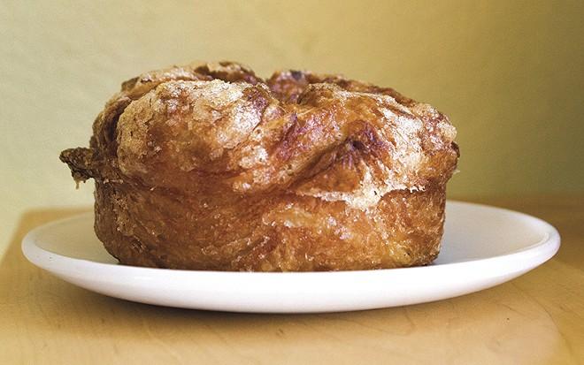 Salted caramel croissant at Pint Size Bakery & Coffee. - SARA BANNOURA