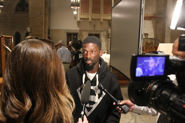 Rep. Bruce Franks Jr. says protesters need to make city leaders 'feel it'  to make change. - PHOTO BY DOYLE MURPHY