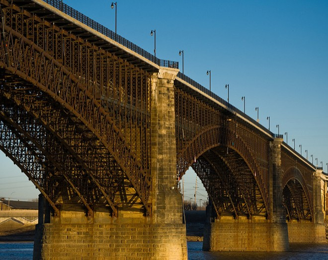 The Eads Bridge spans the Mississippi River near St. Louis. - COURTESY OF FLICKR/DAVID BLANK