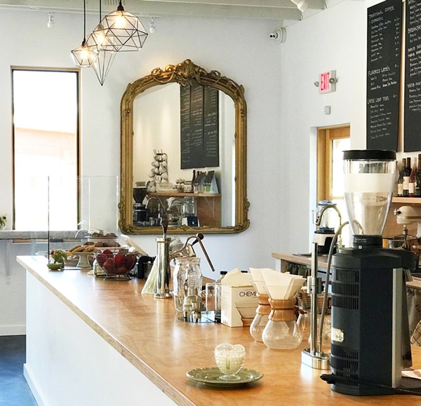 FIDDLEHEAD FERN CAFE COUNTER | SARA GRAHAM