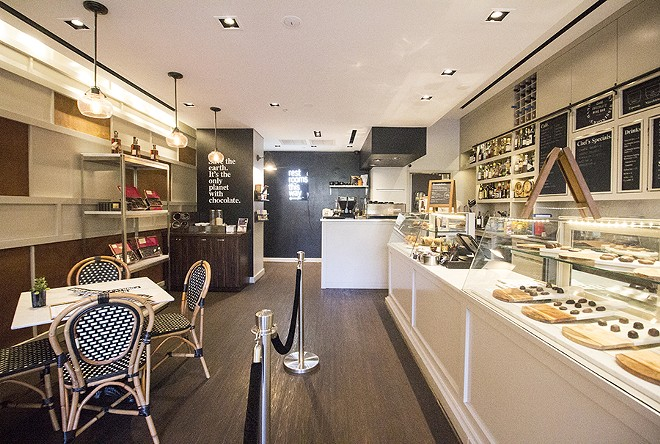 Sweet treats are available at the counter. - MABEL SUEN