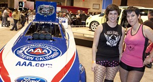 The Arch Rival Roller Girls at the St. Louis Auto Show