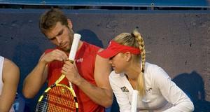 Anna Kournikova Plays Tennis in St. Louis, 7/18/08