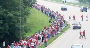John McCain Rally at TR Hughes Ballpark, O'Fallon, 8/31/08