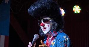 Clownvis Presley Becomes a Human Cannonball at Atomic Cowboy