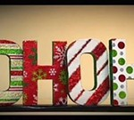 Holiday Decoupage Letters