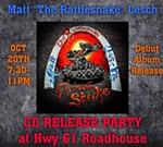 """Matt  """"The Rattlesnake"""" Lesch CD Release Party"""