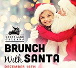 Cedar Lake Cellars' Brunch with Santa