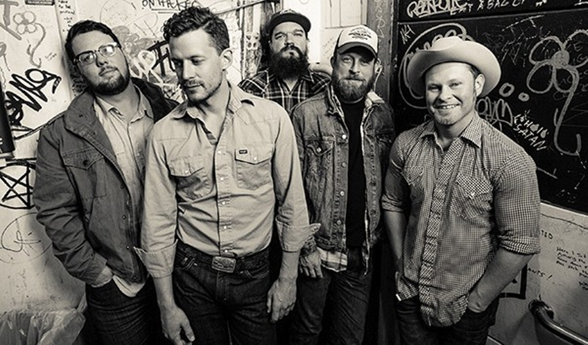 Evan Felker, Turnpike Troubadours' lead singer, is that handsome gentleman second from the left.