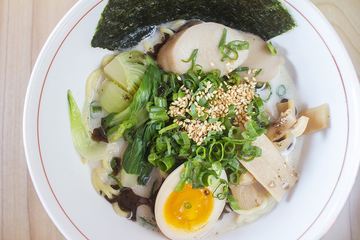 """Shroomed Out"" is Nudo House's vegetarian mushroom ramen."