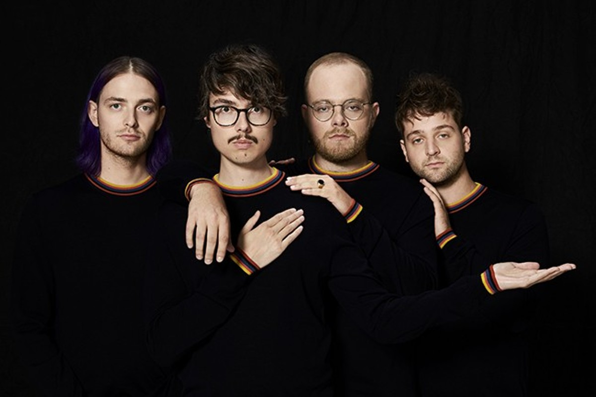 Eric Armbruster, second from left, has led Joywave since its inception in 2010.