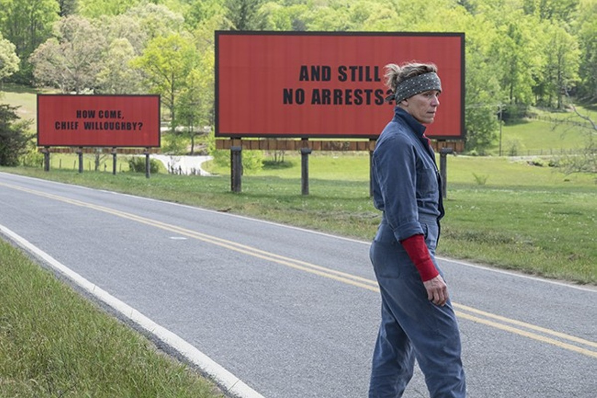 Mildred Hayes (Frances McDormand) is a woman on a mission.
