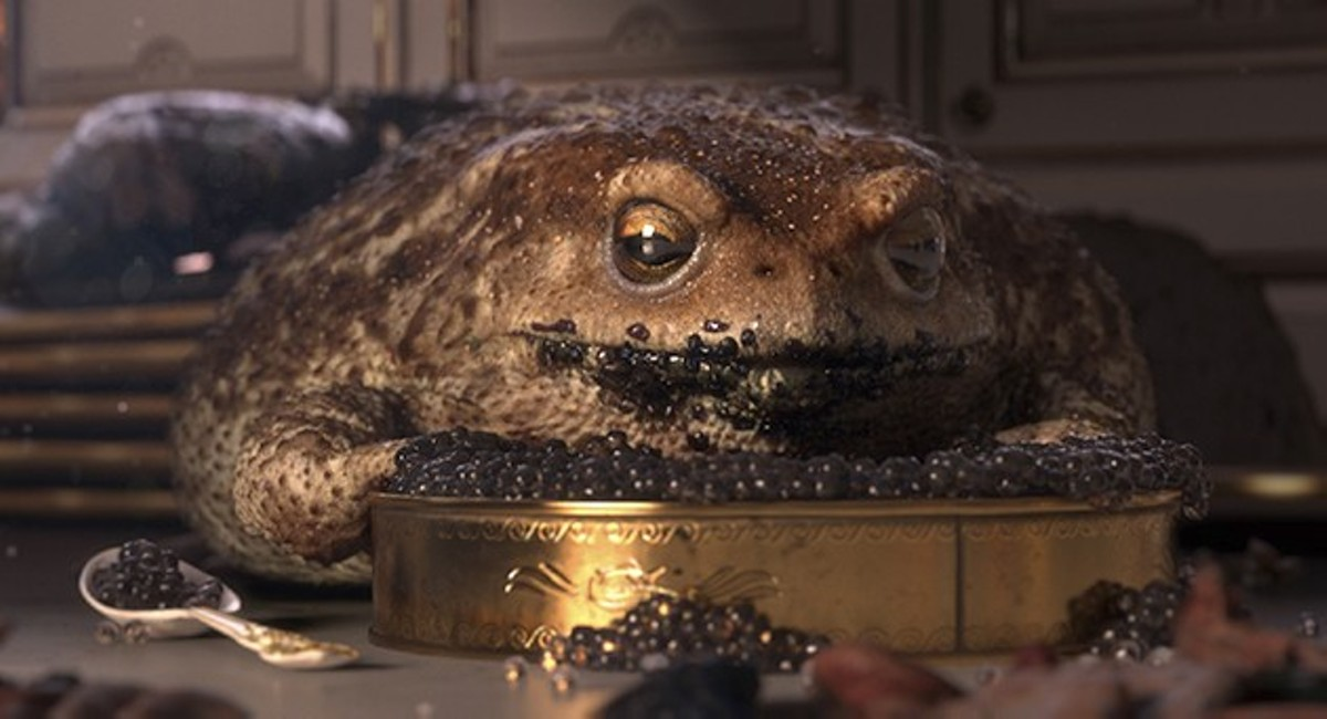 "A group of frogs take over a mansion in the animated short ""Garden Party."""