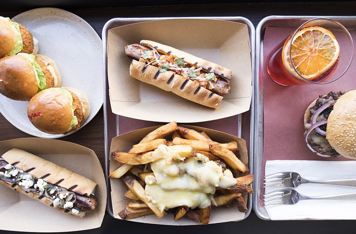 Frankly on Cherokee specializes in sausages, but it does many other things as well, including some of the best fries in town.
