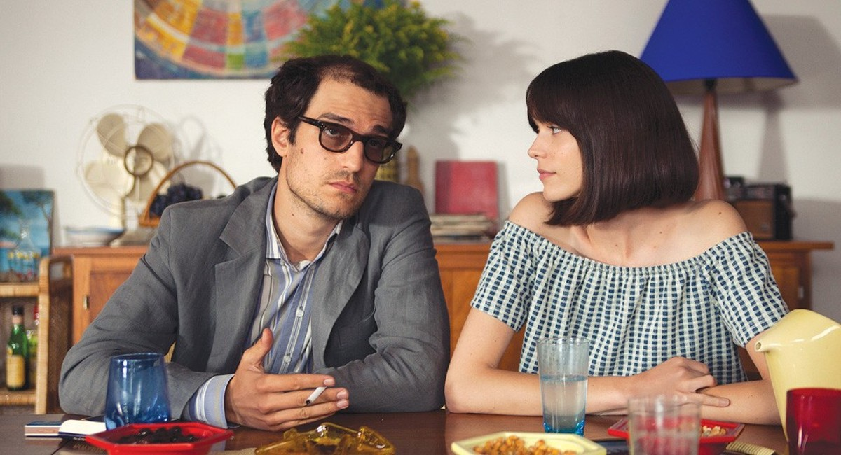 Jean-Luc Godard (Louis Garrel) and his muse/wife Anne Wiazemsky (Stacy Martin).