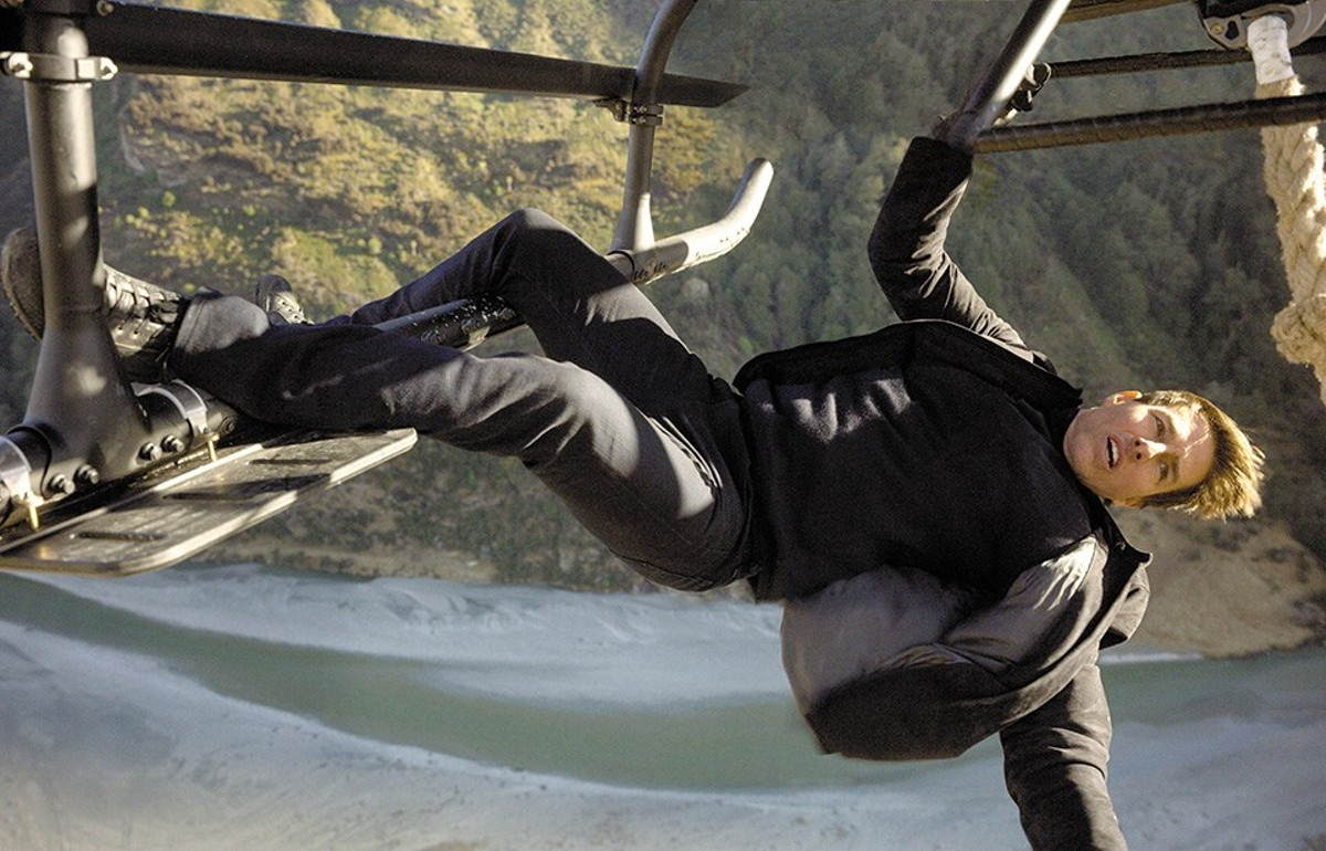 Tom Cruise runs, jumps, climbs, slides, drops and dangles his way through another thrilling installment of Mission: Impossible.