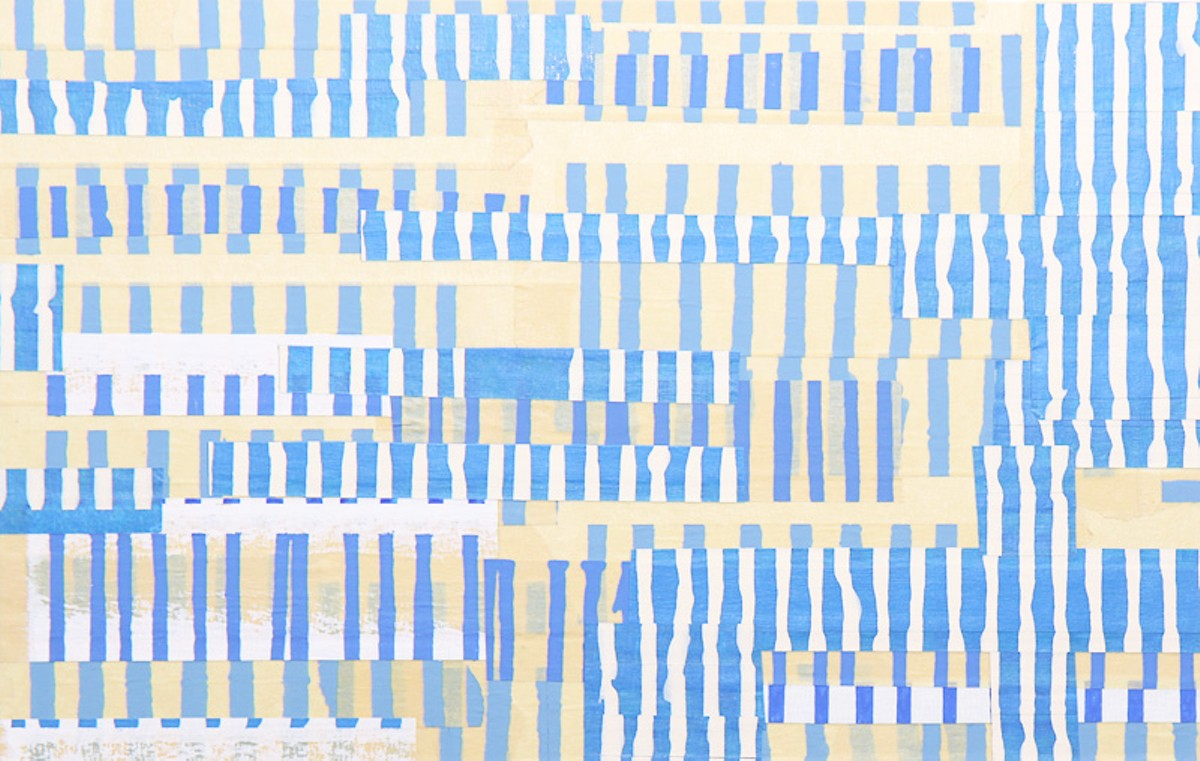 Tape Drawing #22, 2007, 9 by 14 inches.