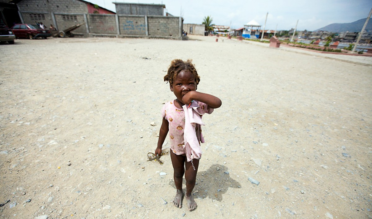A little girl in the Cap-Haïtien slum Shada. See more photos from Haiti.