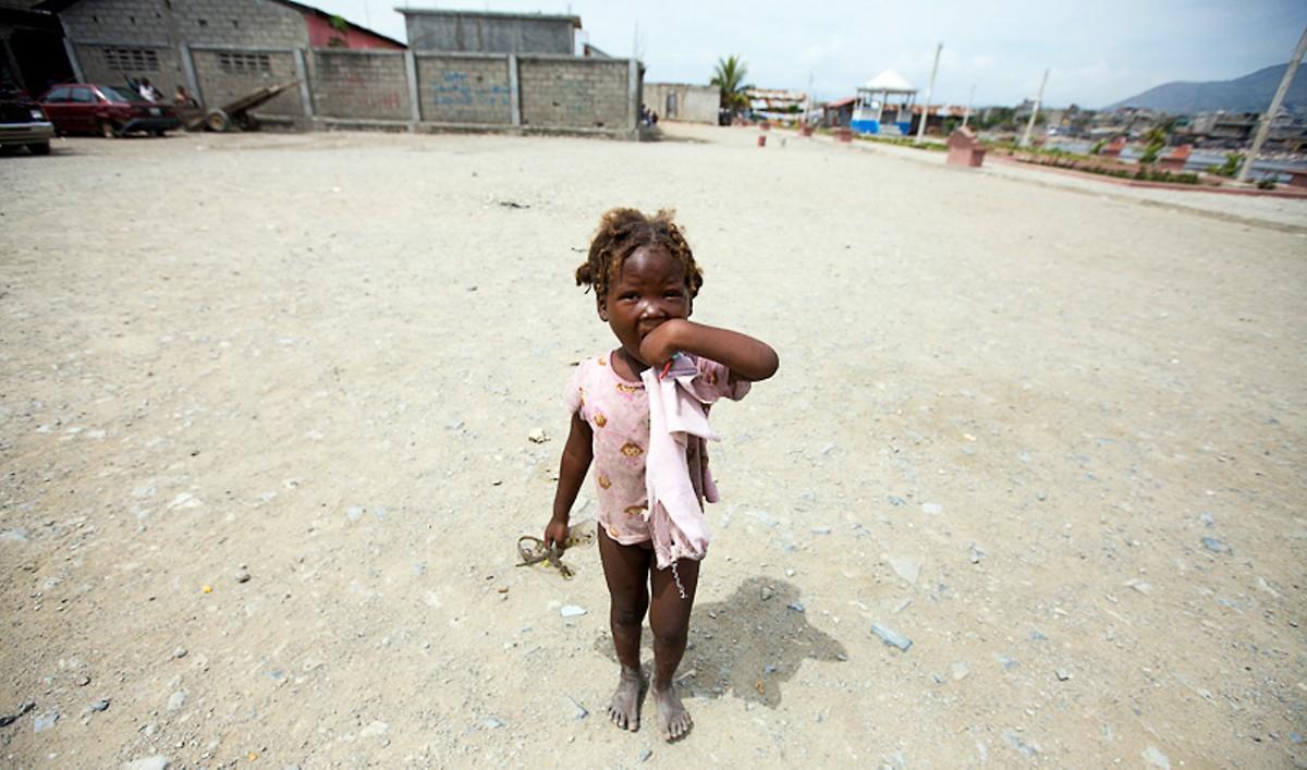 A little girl in the Cap-Haïtien slum Shada. See more photos from Haiti.