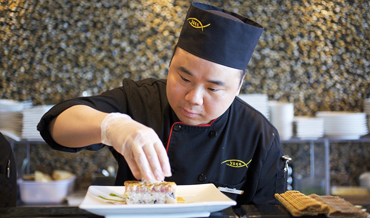 Sushi chef Tim Jiang. See a slideshow from Yagu Asian Fusion restaurant in Chesterfield.