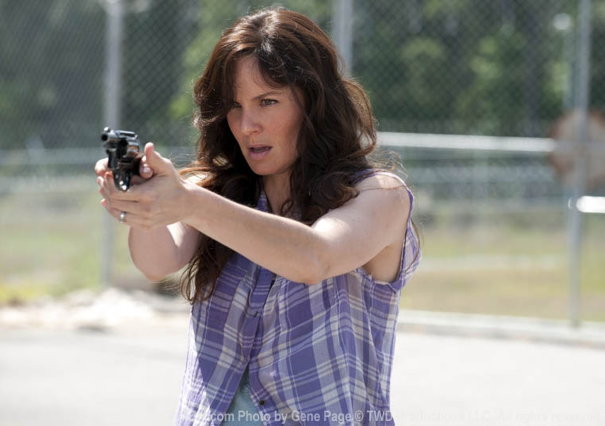 As in the comics, Lori provided Rick with a sense of normalcy rather than with anything like, say, practical aid.