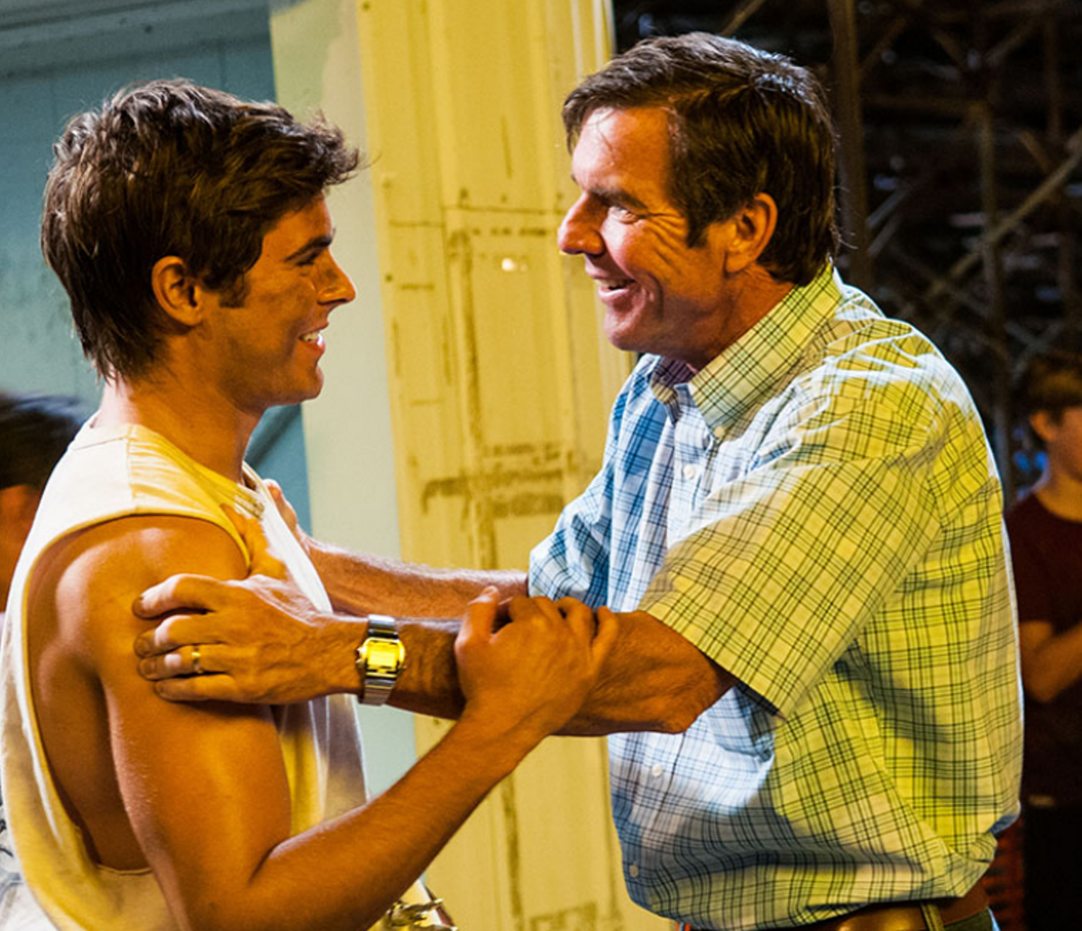 Zac Efron (left) and Dennis Quaid in At Any Price.