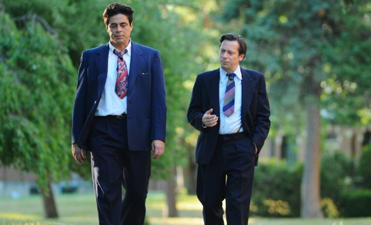 Benicio Del Toro and Mathieu Amalric in Jimmy P.