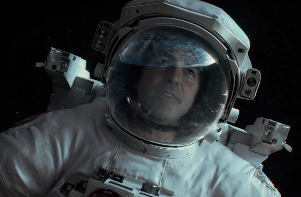 George Clooney in the trailer for Gravity.