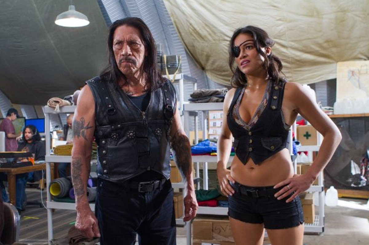 Danny Trejo and Michelle Rodriguez in Machete Kills.